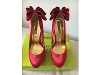 Ted Baker Red Origami Bow Heels