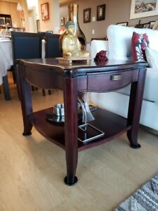 Solid wood pair of living room end tables