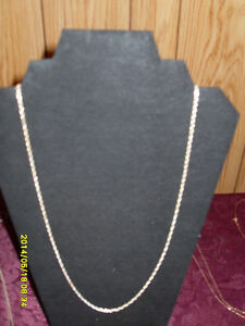 "Sterling silver (925) 26"" heavy twisted rope style chain."
