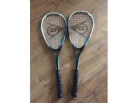 2x Bio tec Dunlop squash racket