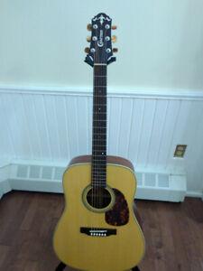 All solid wood Crafter DV200-NV acoustic guitar