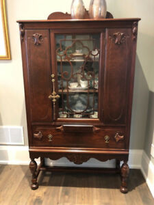 Antique Solid Wood Fully Restored Curio