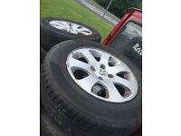 Peugeot 307 alloys x4 with tyres £70