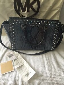 Authentic Michael Kors snake skin leather