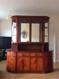 Solid Mahogany Dresser / wall unit / Cabinet by Beresford & Hicks OFFERS PLEASE