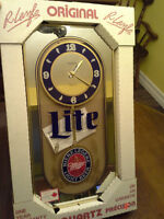 Miller Light Beer Clock.