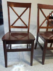 Beautiful solid wood Pier 1 Chairs!