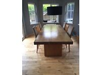 John Lewis Solid Oak dining table 2.6m length by 1m Wide RRP £1450
