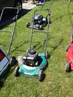 Recycle your old lawn mower, weed eater, chain saws!