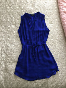 XXS Aritzia Babaton Royal Blue Silk Dress