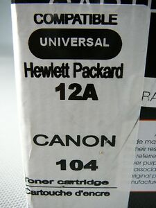 Toner cartrige Hewlett Packard 12A Canon 104 London Ontario image 4