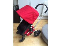Bugaboo frog in red, black & cream