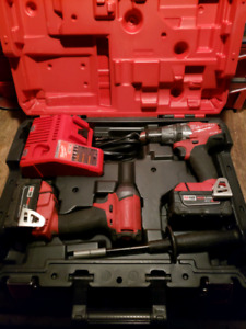 Milwaukee M18 Fuel Hammer drill and impact kit