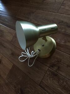 Gold Metal Wall Lamp, 1970, Vintage Wall Lamp, Retro Directional