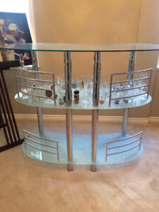 Glass Bar Stand with 2 addtional tables