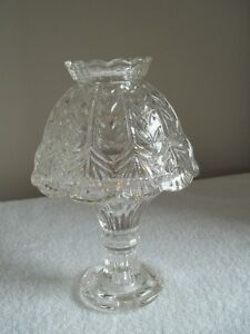 2-piece crystal candle holder