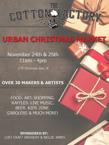 CIRCA'S GARAGE SALE AT THE URBAN CHRISTMAS MARKET