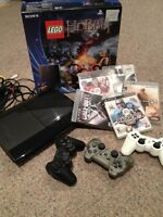 PS3-500GB with controllers and 7 games.
