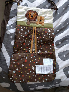 Crib diaper carrier - lamb and ivy collection jungle