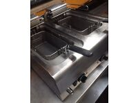 Commercial fryer/ double basket electric fryer