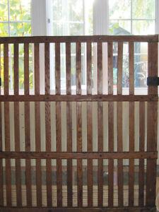 *Rare* Antique Industrial Freight Solid Oak & Iron Elevator Door