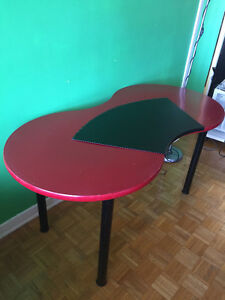 Ikea red table with table cover