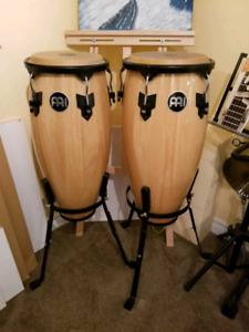 Meinl congas and stand