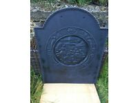 £20 postage Old Cast Iron Backplate Fire Back For Fire Grate Open Fire Inglenook