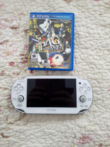 Ps vita with game and memory card