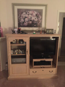 Entertainment Unit - Doors are off in photo, Solid Oak