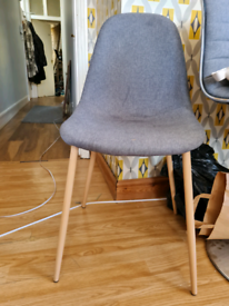 4x grey fabric dining chairs