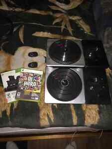 DJ Hero 1 & 2 w/ Two Turntables Xbox 360