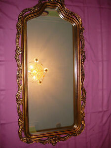 "Superbe miroir antique/1940, style Louis XVI, grand 27""x60"" doré West Island Greater Montréal image 3"