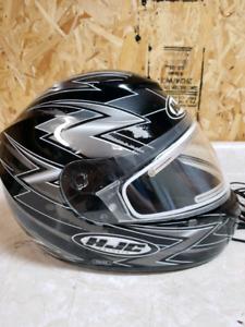Sled Helmet with Heated Visor