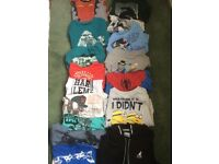 Boys long sleeved tops and jumpers