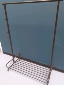 Coat stand and shoe storage clothes rail