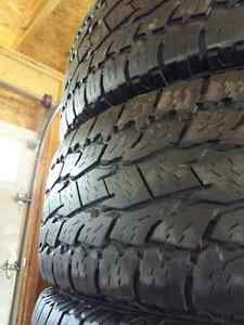 Set of 265/70/R18 TOYO OPEN COUNTRY ALL TERRAIN TIRES