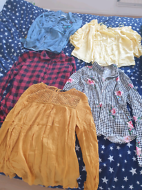 Bundle of womens shirts from h&m ,new look, f&f size 8