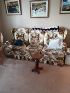 Chesterfield and armchair