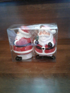 Brand New Santa Salt And Pepper Shakers