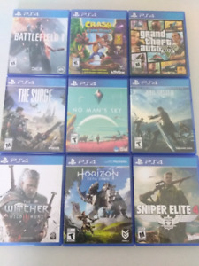 50 Different PS4 Games for Sale