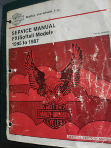 Service manual for 85/87 FX/softail models