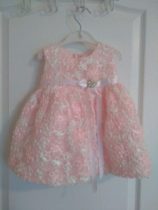 Baby formal wear dress! Pink & White!