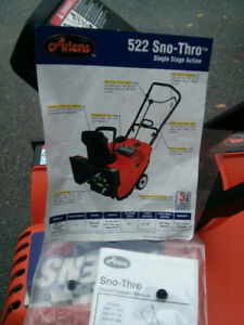 "Like New Ariens Single-Stage 22"" 5-HP Electric Start Snow Blower"