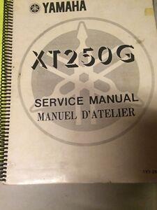 1980 Yamaha XT250G Service Manual Regina Regina Area image 1