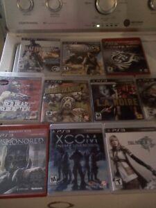 Lot de 10 jeux  pour playstation 3 a 7$ chacun