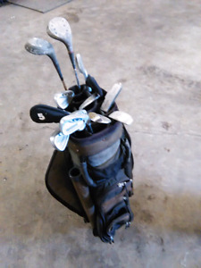 Golf clubs with bag for right handed golfer