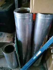Double wall pipe for oil stove