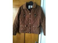 Womens brown coat size 10