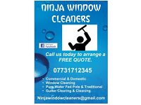 NINJA WINDOW CLEANERS. (Southampton and surrounding areas)